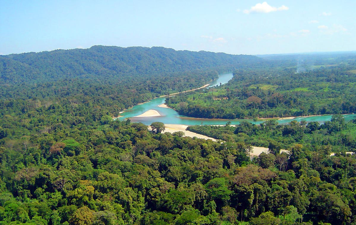 Vista lejana de Montes Azules