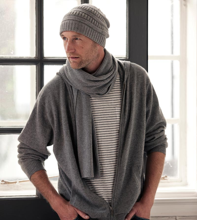 grey black scarf reversible front in ultrafine tencel element mens and infinity m elementpure pure large product